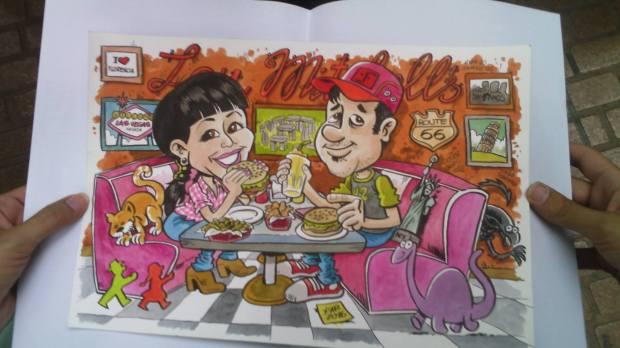 pareja_hamburguesería